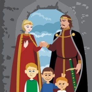 5657562 - picture of a medieval noble family no transparency used in the vector file